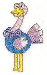 Ostrich embroidery design