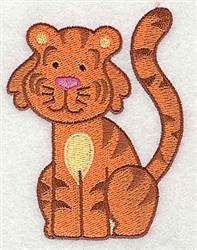 Tiger embroidery design
