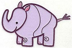 Rhinoceros Applique embroidery design