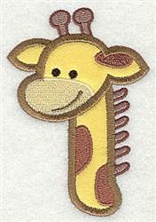 Giraffe Head Applique embroidery design