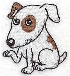 Terrier embroidery design