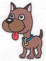 Devoted Boxer embroidery design