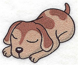 Sleeping Puppy embroidery design