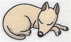 Snoozing Canine embroidery design