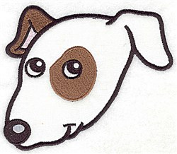 Terrier Face embroidery design
