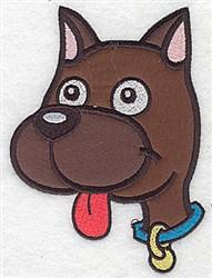 Doggie Applique embroidery design