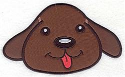 Devoted Dog Applique embroidery design
