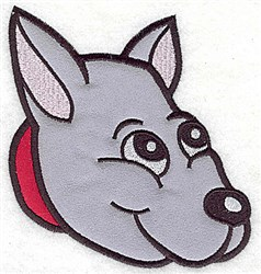 Puppy Face Applique embroidery design