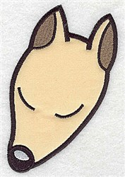 Napping Pup Applique embroidery design