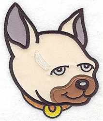 Dog Face embroidery design