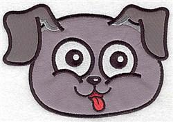 Funny Dog Applique embroidery design