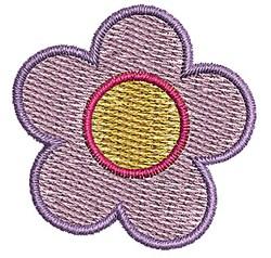 Purple Flower embroidery design