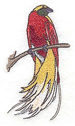 Elegant Tail Bird embroidery design