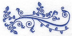 Baroque Leaves embroidery design