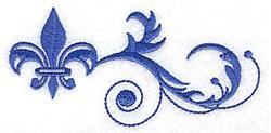 Baroque Fleur embroidery design