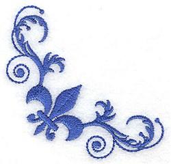 Baroque Fleur Corner embroidery design