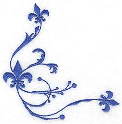 Baroque Fleurs embroidery design