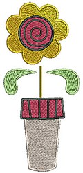 Blooming Pot embroidery design