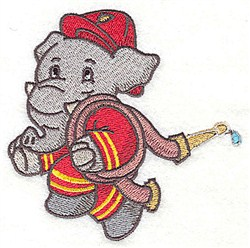 Elephant With Hose embroidery design