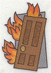 Burning Building embroidery design