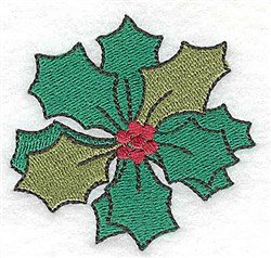 Holly With Berries embroidery design