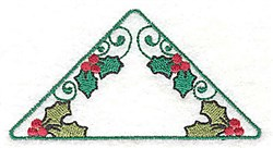 Holly Triangle embroidery design