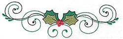 Holly Swirls Border embroidery design