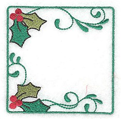 Holly in Square embroidery design