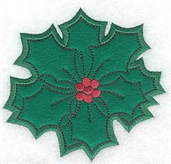 Holly Applique embroidery design