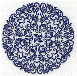 Intricate Circle embroidery design