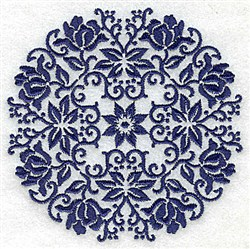 Buds & Petals Circle embroidery design
