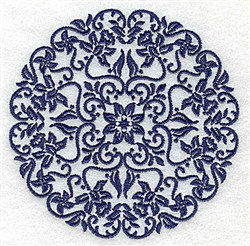 Fancy Floral Circle embroidery design