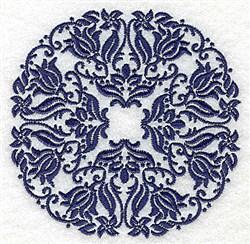 Damask Circle embroidery design