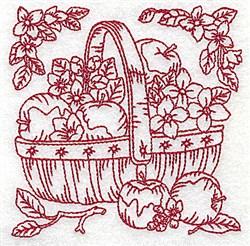 Basket Of Apples embroidery design