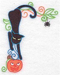 Black Cat Corner embroidery design