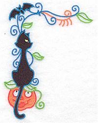 Halloween Corner embroidery design