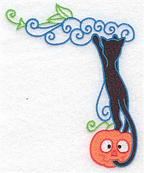 Cat Climbing embroidery design