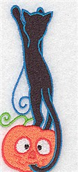 Black Cat Climbing embroidery design