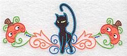 Black Cat  Border embroidery design