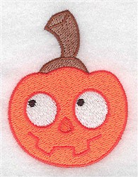 Silly Pumpkin embroidery design