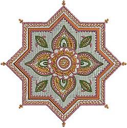 Henna Star embroidery design