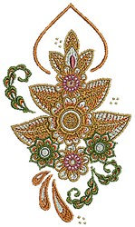 Henna Flowers embroidery design