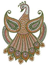 Henna Bird Peacock embroidery design