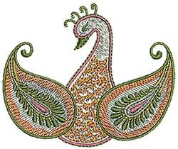 Henna Peacock Bird embroidery design