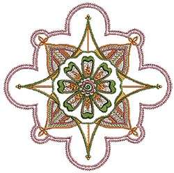 Henna Floral embroidery design
