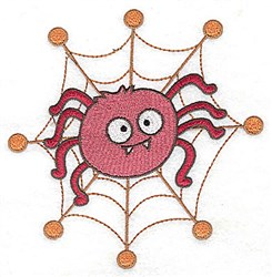Spider in web embroidery design