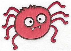 Spider double applique embroidery design
