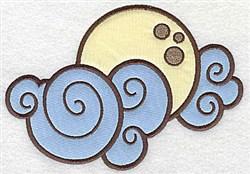 Halloween Moon Applique embroidery design