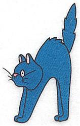 Halloween Cat Applique embroidery design