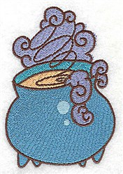Witchs Cauldron embroidery design